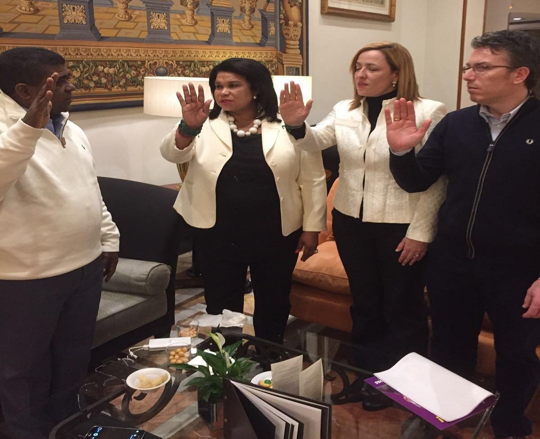"MADRID: Juramentan ""personalidades"" apoyan a Danilo"