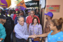 """Reinaldo Pared Pérez realiza marcha """"mano a mano"""" en el DN"""
