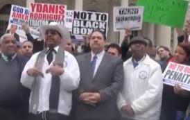 Senador Rubén Díaz encabeza protesta taxistas de NY
