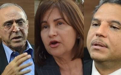 Guillermo Caram, Rosalía Sosa y Fidel Santana
