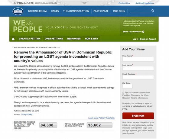 Más de 15 mil firman carta para que Gobierno EU retire Brewster de RD