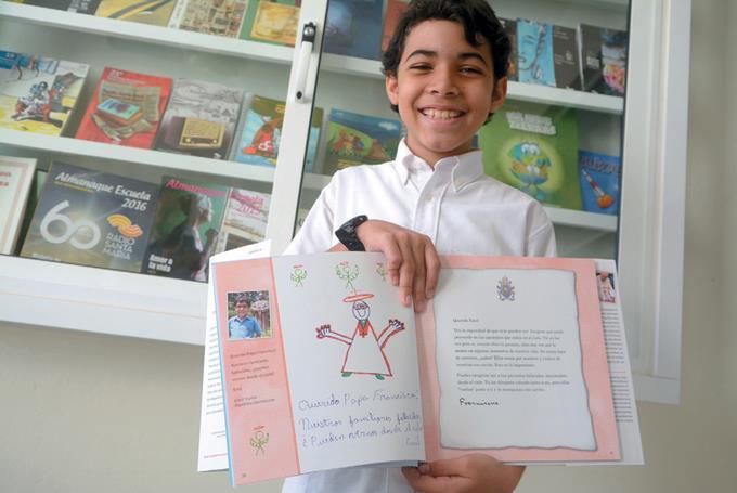 El Papa responde carta niño RD