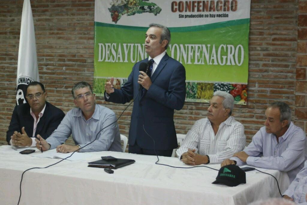 Abinader promete programas en favor del sector agropecuario