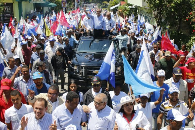 PRM y aliados cierran campaña con mítines en DN, Santiago y Azua