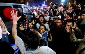 Detienen 20 personas por protestar acto Donald Trump