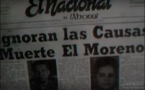 Portada del periódico El Nacional, con noticia sobre la muerte de Maximiliano Gómez