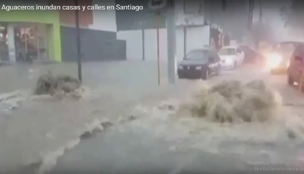 Cientos de desplazados, casas inundadas en la República Dominicana