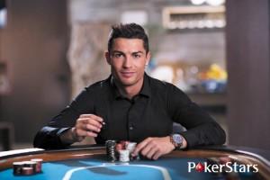 Cristiano Ronaldo con PokerStars, uno de sus múltiples sponsors