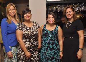 Tataina Rosario, Yara González, Lisbeth González y Diana Toribio.