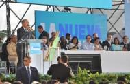 El presidente Medina entrega proyecto la Nueva Barquita en SDE