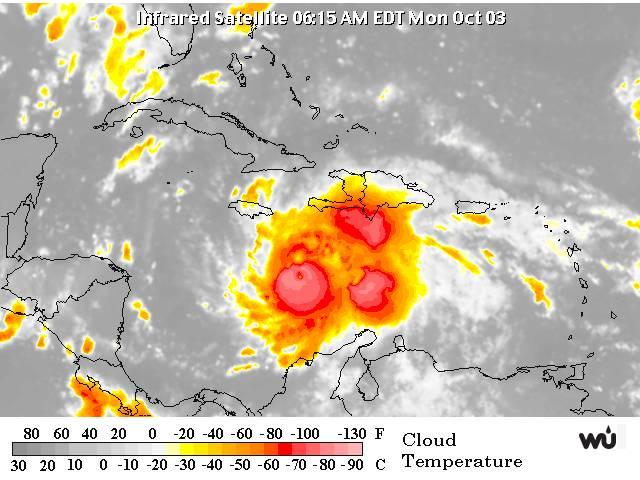 ONAMET advierte sobre aguaceros con tormentas eléctricas y ráfagas en RD