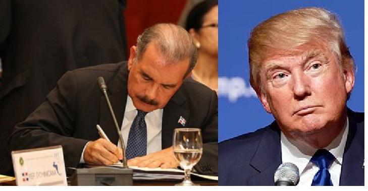 Presidente Medina felicita a Trump