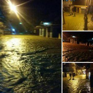 Estas fotos fueron captadas este domingo en la noche en La Isabela.