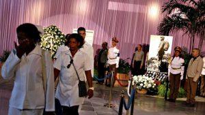 Los cubanos despiden a Fidel Castro.