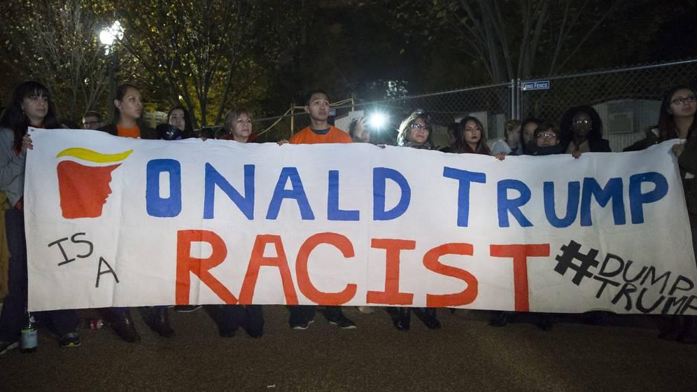 Protestan por el triunfo de Donald Trump