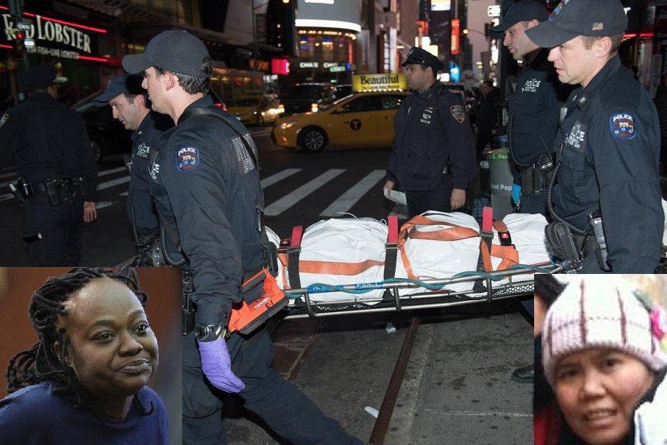 Muere mujer al ser empujada a vías tren en Times Square