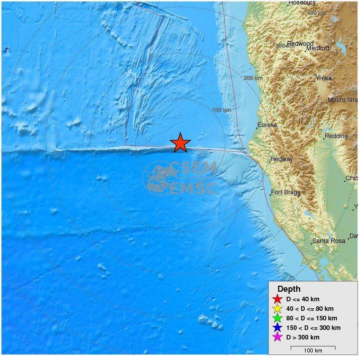 Terremoto 6.8 sacude costa California