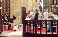 Se casó el sábado una hija del Presidente durante una ceremonia en la catedral