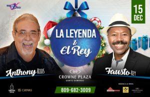 """Espectáculo """"La Leyenda y El Rey"""" concierto Anthony Ríos y Fausto Rey"""