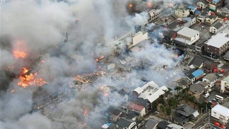 JAPON: Incendio devora 140 edificios