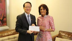China Taiwán entrega US$428 mil al Despacho Primera Dama