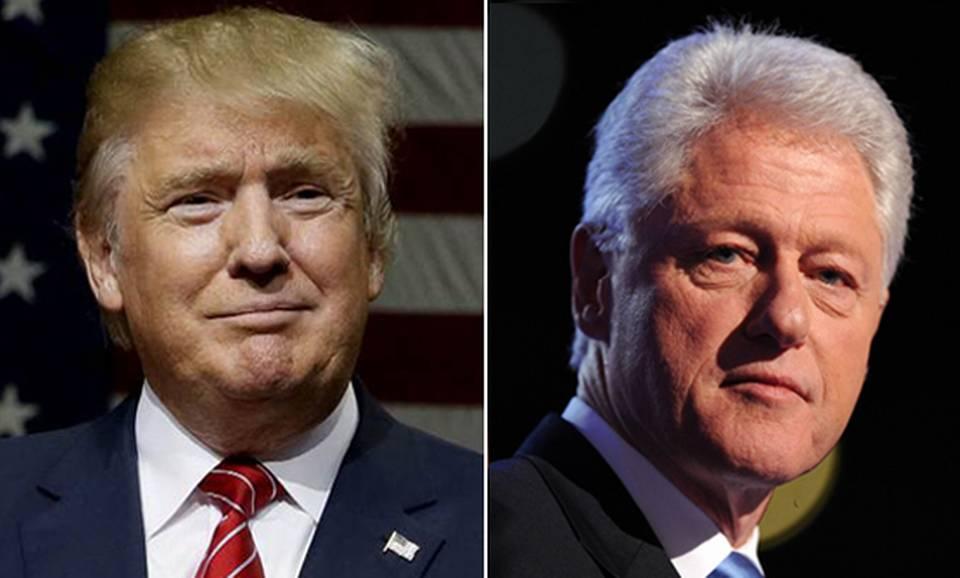 EU: Donald Trump ataca en Twitter al expresidente Bill Clinton