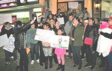 Inquilinos del Alto Manhattan protestan por estado edificios