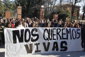 ESPAÑA: Protestan por muerte mujer a manos de dominicano