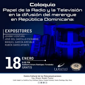 Indotel celebrará coloquio merengue
