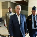 Freddy Pérez a su llegada a la Procuraduría.