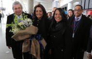 Primera Dama llega a New York para honrar a la virgen de la Altagracia