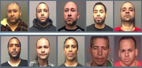 Acusan 10, en su mayoría dominicanos, de ser parte red de droga