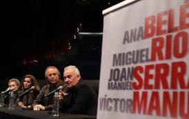 Ana Belén, Víctor Manuel, Ríos y Serrat llaman a la resistencia contra Trump