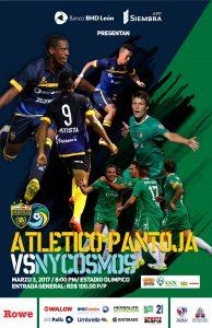 Pantoja y Cosmos disputarán Copa BHD de Fútbol