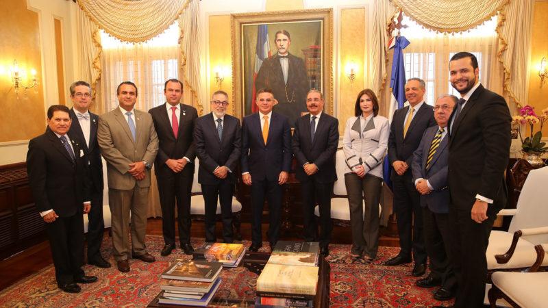 Danilo recibe a presidente Federación de Industriales de Centroamérica