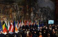 """Líderes UE reafirman """"unidad"""" 60 años después con ausencia Reino Unido"""