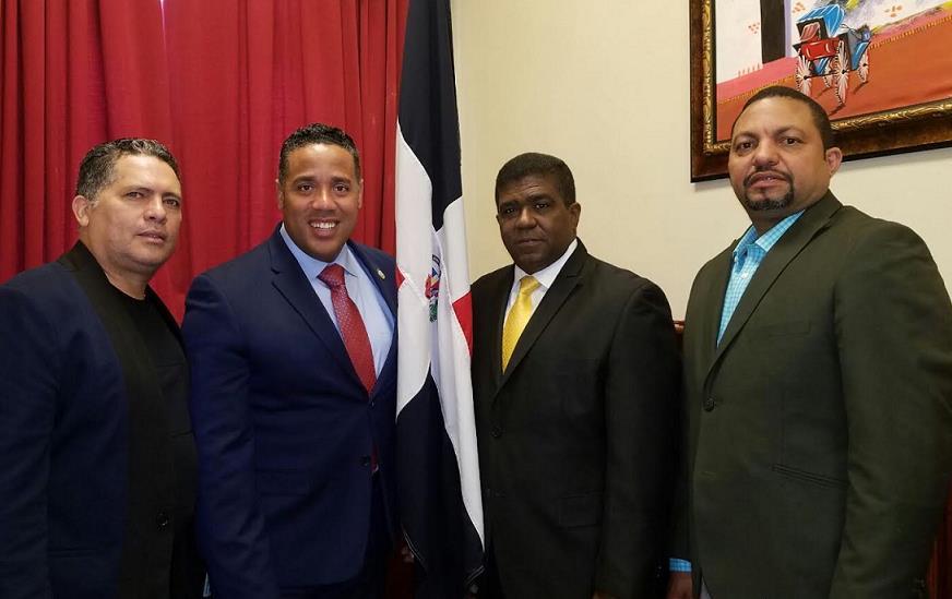 Vicepresidente Condex y concejal de Paterson discuten agenda diáspora