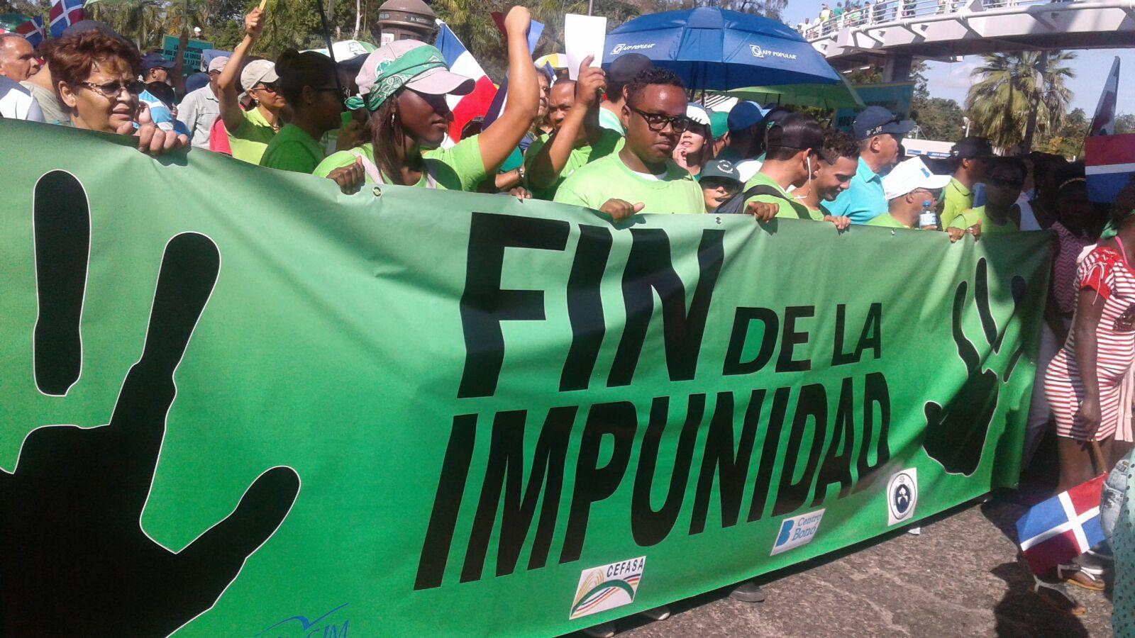 Marcha Verde pide renuncia Danilo Medina por crisis sobornos Odebrecht