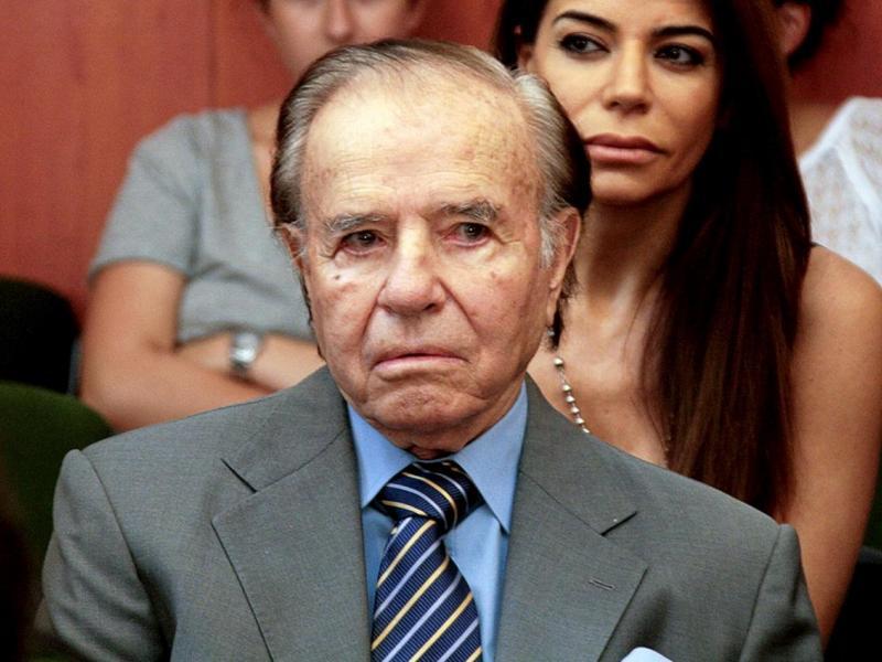 ARGENTINA: Confirman condena de 7 años de cárcel al ex presidente Carlos Menem