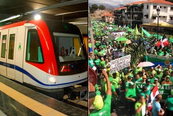 Activistas se proponen abordar en masa metro Santo Domingo vestidos de verde