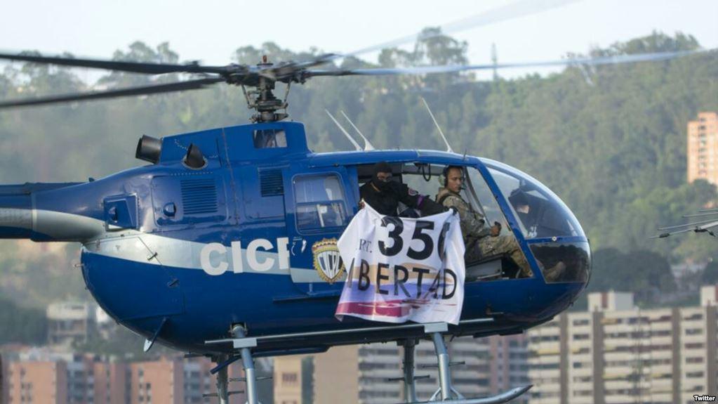 VENEZUELA: Fuerzas especiales buscan a un piloto que ayer desafió al régimen