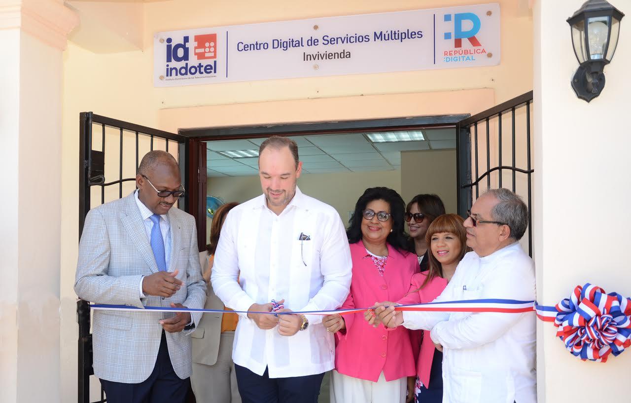Indotel y ASDE inauguran Centro Tecnológico en el sector Invivienda
