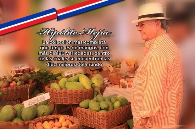 Colección de mangos de Hipólito Mejía incluye 10 de los mejores del mundo
