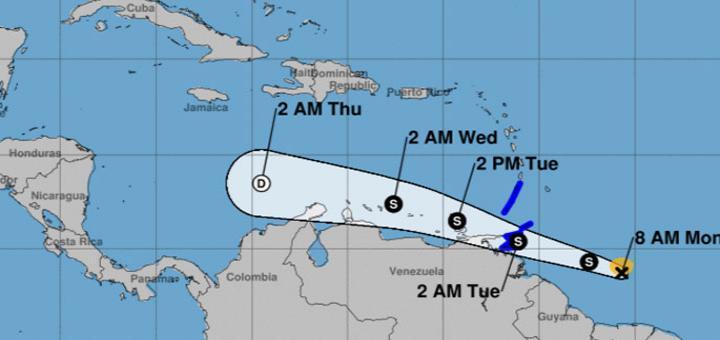 En alerta varias islas del Caribe por disturbio con potencial ciclónico