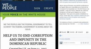 Inician campaña pide a Estados Unidos ayuda para acabar con la corrupción