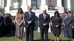 Trump y Pence honran a las víctimas de la masacre en Las Vegas