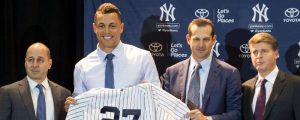Yankees de Nueva York presentan al toleteroGiancarlo Stanton