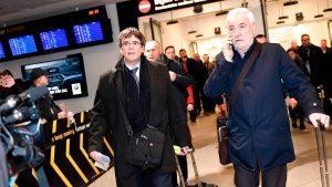 Puigdemont llega a Copenhague pese al riesgo de ser detenido