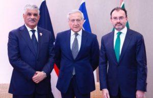 Cancilleres RD, México y Chile pasan balance al diálogo sobre Venezuela