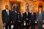 El Presidente Medina recibió la visita de senadores y diputados haitianos